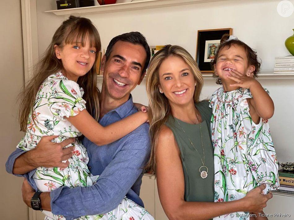 Filha caçula de Ticiane Pinheiro é fruto de seu casamento com Cesar Tralli
