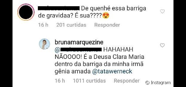 Bruna Marquezine responde sobre gravidez a seguidora