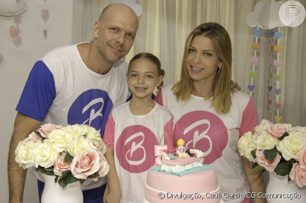 Sheila Mello e Fernando Scherer, o 'Xuxa', terminaram o casamento em 2018 e tiveram uma filha, Brenda, de 8 anos