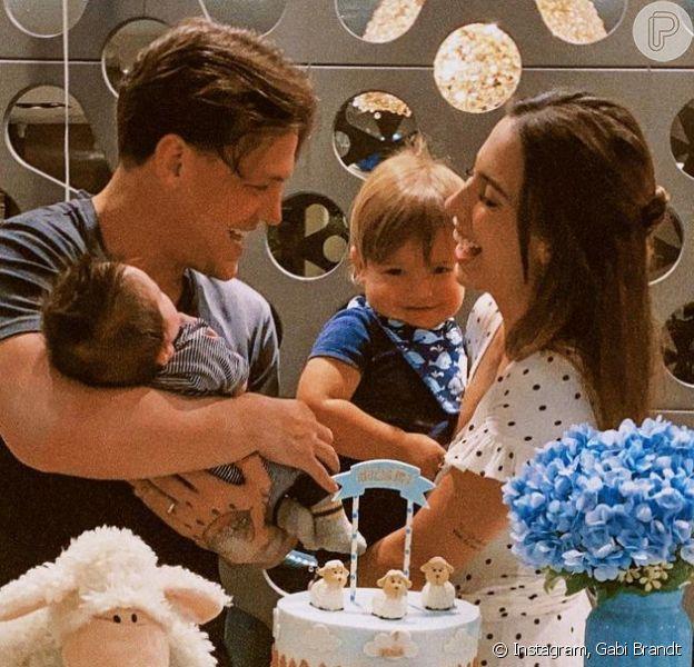 Gabi Brandt e Saulo Poncio organizam festa para filho mais velho: Davi, de dois anos