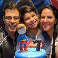 Zezé Di Camargo e Graciele Lacerda vão à festa de aniversário de João Francisco, caçula de Wanessa, em de julho de 2021