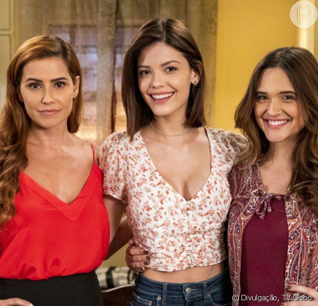 Último capítulo da novela 'Salve-se Quem Puder': Luna (Juliana Paiva), Alexia (Deborah Secco) e Kyra (Vitória Strada) vão viajar para Cancún
