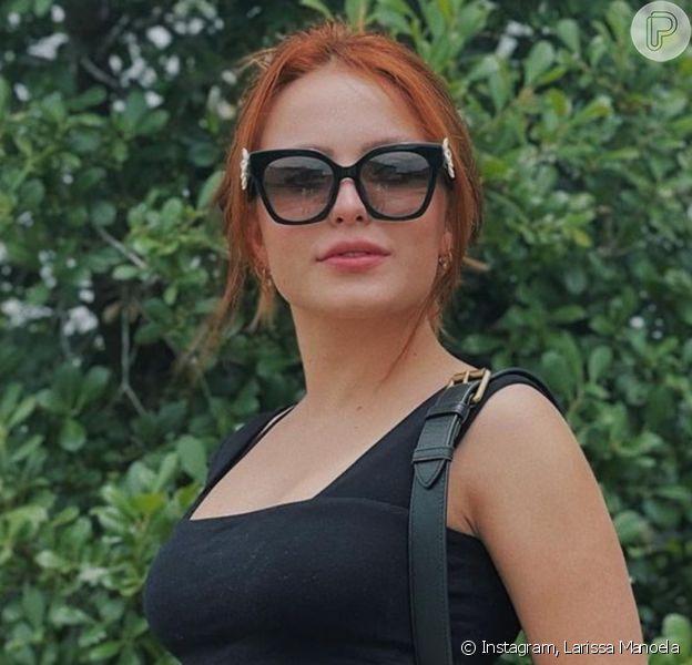 Larissa Manoela engatou romance com André Luiz Frambach, segundo a coluna 'Retratos da Vida', do jornal 'Extra' em 22 de julho de 2021
