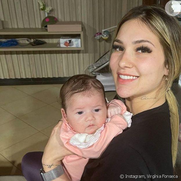 Virgínia Fonseca aparece segurando filha no colo em clique feito por Zé Felipe