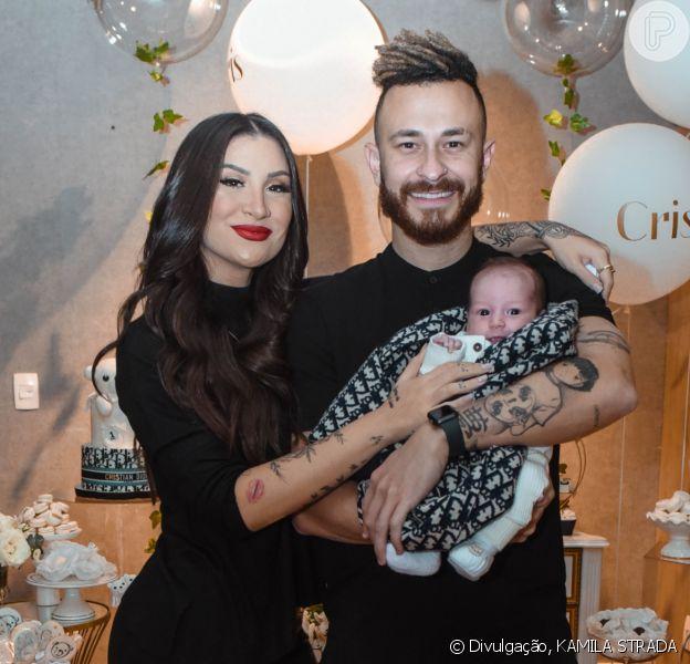 Bianca Andrade e Fred comemoraram 1 mês do filho, Cris