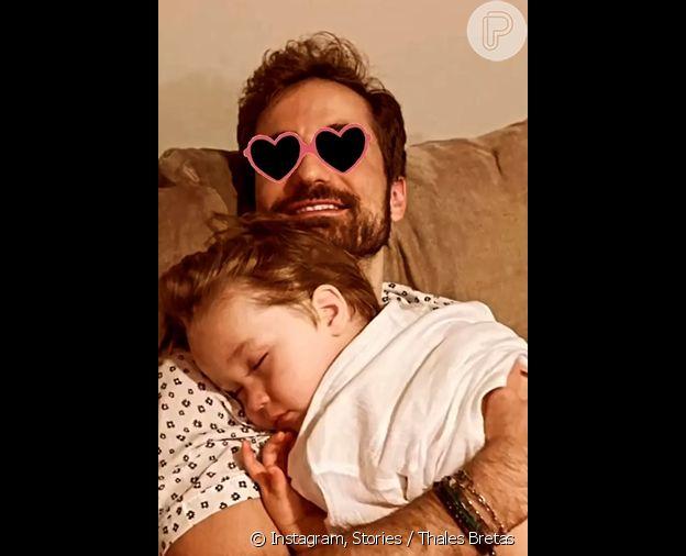 Thales Bretas e o filho com Paulo Gustavo, Gael, de 2 anos