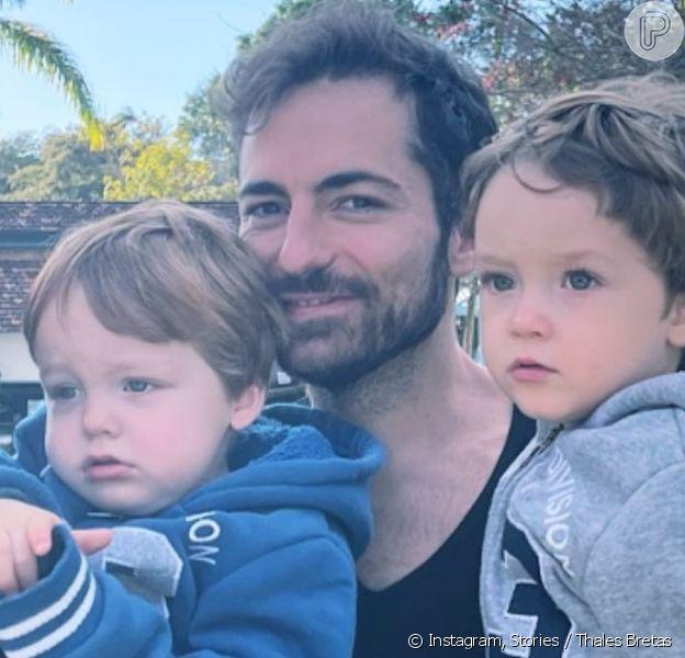 Thales Bretas comemora aniversário de 2 anos do filho com Paulo Gustavo e web se impressiona com semelhança com o humorista