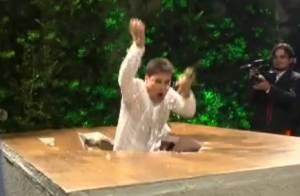 Repórter Vesgo cai em pegadinha do 'Pânico' durante sua festa de casamento