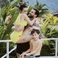 Marido de Cleo, o empresário e modelo  Leandro D'Lucca, pai de Gael, chamou Gloria Pires de 'vovó' e deixou os internautas em dúvida