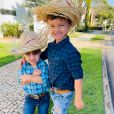Matheus Aleixo e Paula Aires são pais de  Davi, de 6 anos, e João Pedro, de 2
