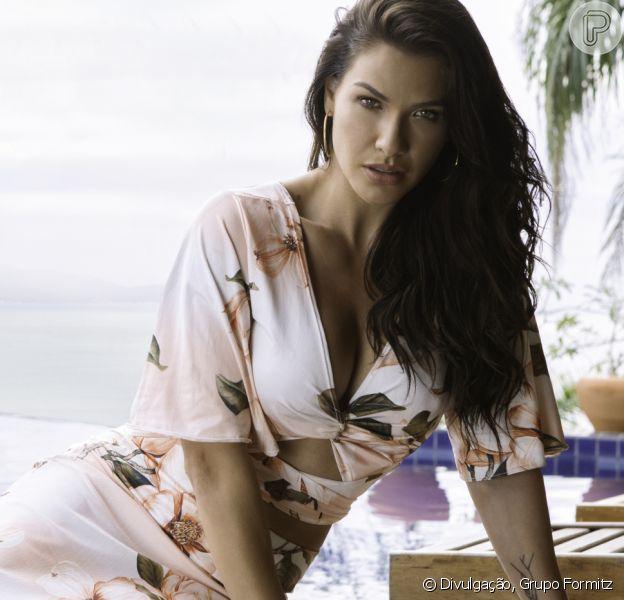 Moda: Andressa Suita valoriza corpo com barriga de fora e decotes em looks Primavera-Verão 2022
