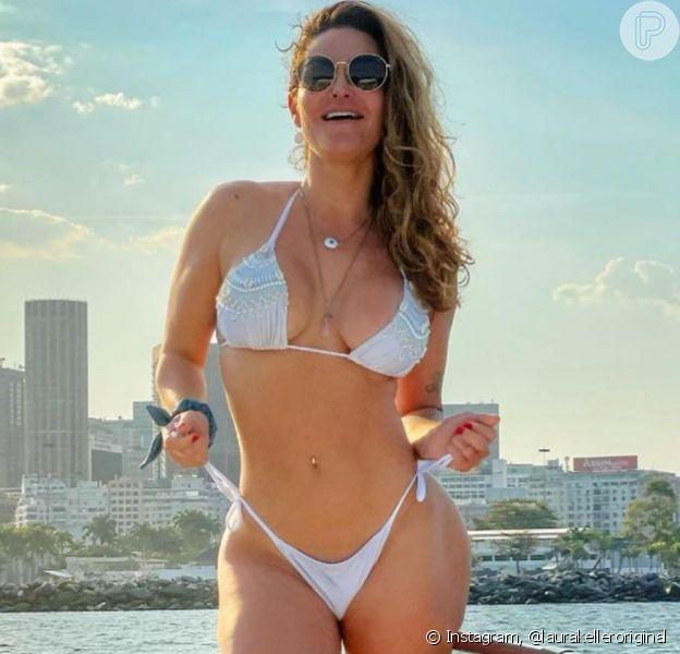 Laura Keller mostrou perda de peso em foto de biquíni