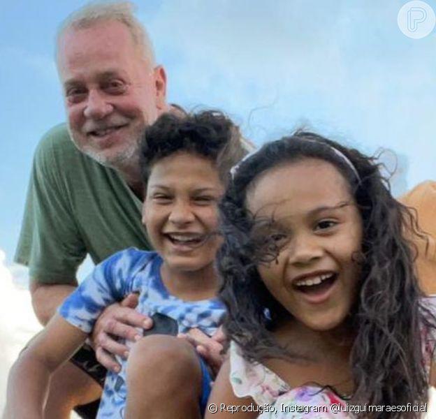 Luiz Fernando Guimarães compartilhou um momento em família