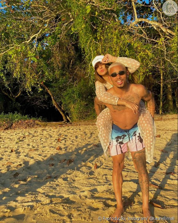 Raiane Lima e Gabriel Jesus assumiram o namoro neste ano