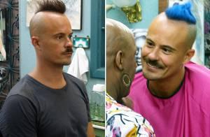 Paulinho Vilhena pinta cabelo de azul para personagem da novela 'Império'
