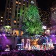 Cerimônia inaugurou a árvore de Natal do Rockefeller, em Nova York, nos Estados Unidos