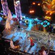 Mariah Carey se apresenta na cerimônia de inauguração da árvore de Natal do Rockefeller, em Nova York, nos Estados Unidos