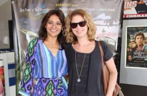 Patricia Pillar marca presença de pré-estreia de filme com Dira Paes, no Rio