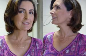 Fátima Bernardes volta à TV após férias e mostra novo visual: 'Cortei muito'