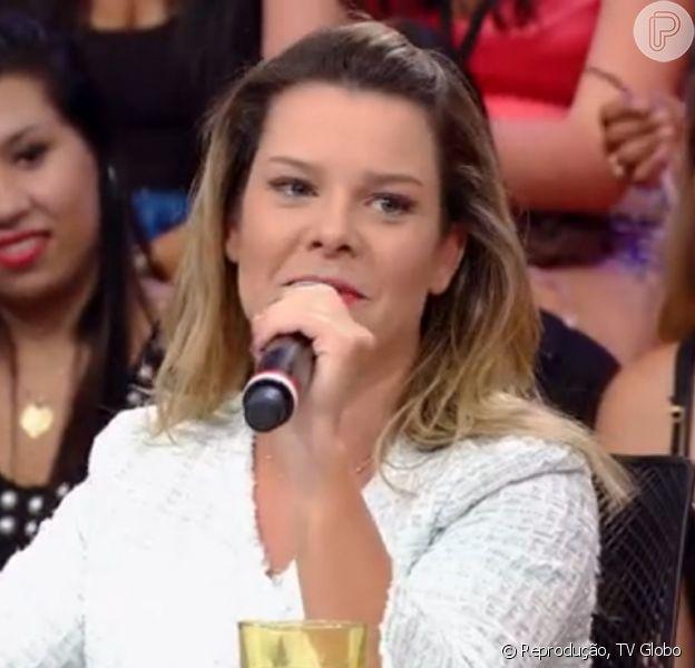 Fernanda Souza declara o que sentirá na hora de seu casamento, 'Caldeirão do Huck ', 14 de fevereiro de 2015