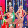 Tarine Lopes, representante da X-9 Paulistana, foi eleita a Musa do Carnaval de São Paulo, ' Caldeirão do Huck  ', 14 de fevereiro de 2015