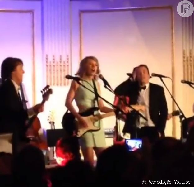 Taylor Swift canta 'Shake it Off' com Paul McCartney em programa de TV, neste domingo, 15 de fevereiro de 2015