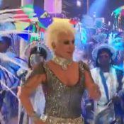 Fantasiada, Ana Maria Braga samba com a bateria da Portela no 'Mais Você'