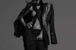 Rihanna posa sensual em ensaio em homenagem ao estilista Alexander McQueen