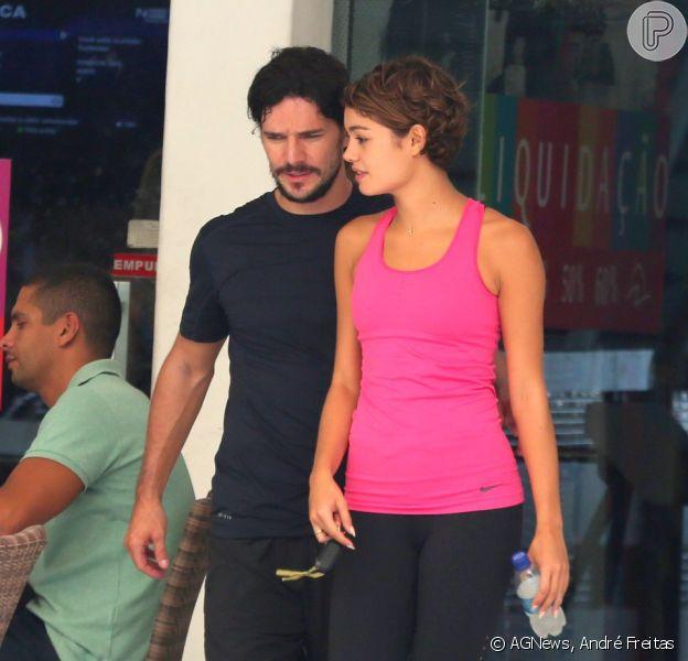 Daniel de Oliveira e Sophie Charlotte malharam juntos nesta sexta-feira, 27 de fevereiro de 2015, em uma academia da Barra da Tijuca, na Zona Oeste do Rio