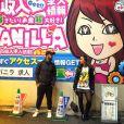 Sabrina Sato viajou para o Japão após o convite de uma TV local