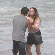Bruno Gissoni e Daniela Escobar gravam cenas de 'Flor do Caribe' em praia do Rio