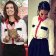 Quem também já repetiu looks algumas vezes foi Fátima Bernardes. A apresentadora usou a mesma blusa já eleita por Bruna Marquezine