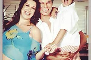 Enzo posta foto de Claudia Raia grávida ao lado de Edson Celulari: 'Bons tempos'