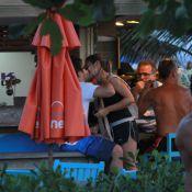 Thiago Rodrigues e Cristiane Dias são flagrados aos beijos em tarde de praia