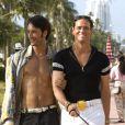 Jim Carrey já contracenou com Rodrigo Santoro. Os atores faziam par romântico no filme 'O Golpista do Ano'