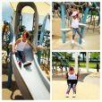 Rafaella Justus se diverte no parque