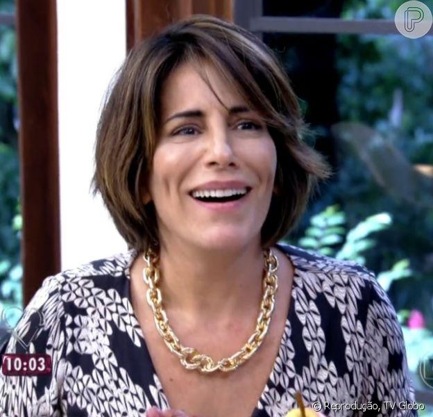 Gloria Pires ganha homenagem dos filhos e do marido, Orlando Morais, ao vivo durante o programa 'Mais Você', nesta quinta-feira, 2 de abril de 2015
