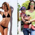 A mega top model brasileira Alessandra Ambrósio é mãe de Anja, de 4 anos e desfila um corpo invejável