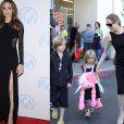 Pouca mão para tantos filhos: Esse é o dilema da musa cinematográfica Angelina Jolie. Ela é mãe de seis crianças, sendo que três são biológicos: Shiloh, de 6 anos, e os gêmeos Vivienne e Knox, de 4. Maddox, de 12, Zahara, de 8, e Pax, de 9, são adotados. Ufa!