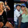 Cantora, dançarina e polêmica, Britney Spears ainda tem tempo para ser mãe de Jayden James Federline, de 6 anos, e Sean Preston, de 7