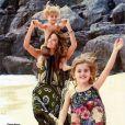 Alessandra é mãe de Anja, de 6 anos, e Noah, de 2