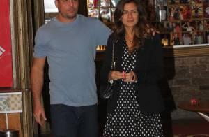 Paula Morais escolhe look romântico para jantar com Ronaldo
