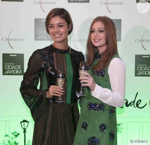 Marina Ruy Barbosa e Sophie Charlotte vão juntas a evento em São Paulo
