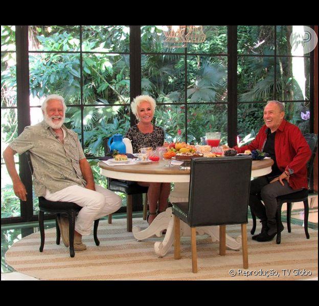 Antonio Fagundes e Stenio Garcia foram homenageados no programa 'Mais Você' desta terça-feira, 28 de abril de 2015