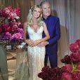 Roberto Justus e a ex-Aprendiz Ana Paula Siebert se casaram no Leopolldo Buffet, em São Paulo, nesta quinta-feira, 30 de abril de 2015