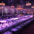 Duas mesas americanas acomodaram todos os convidados do casamento de Roberto Justus e Ana Paula