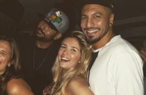 Ex-BBB Aline curte noite no Rio com o namorado, Fernando: 'É amor demais'
