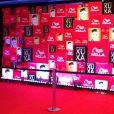 O tapete vermelho por onde passarão os convidados de Xuxa, no festão de 50 anos da rainha dos baixinhos