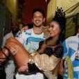 No Carnaval 2015, João Vicente de Castro carregou Sabrina Sato no colo após a apresentadora desfilar como rainha de bateria da escola de samba Vila Isabel, no Rio