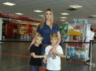 Fernanda Lima leva os filhos gêmeos ao musical 'Disney on Ice', no Rio